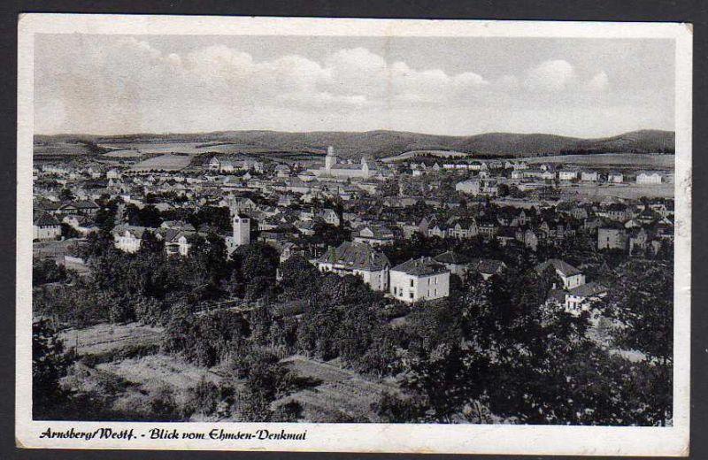 Ansichtskarte Arnsberg Westf. vom Ehmsen Denkmal