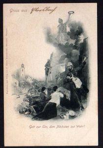Ansichtskarte Ebersbach 1901 Feuerwehr Gott zur Ehr, dem Nächsten zur Wehr