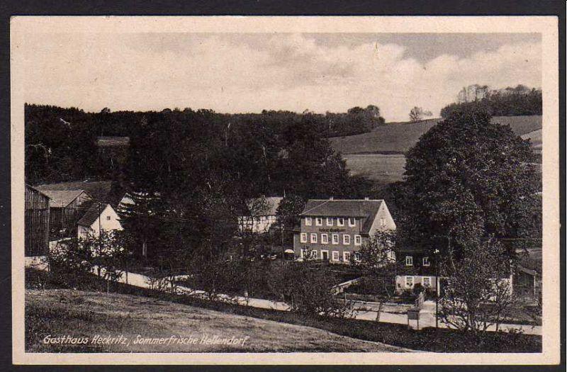 Ansichtskarte Gasthaus Keckritz Sommerfrische Hellendorf über Pirna