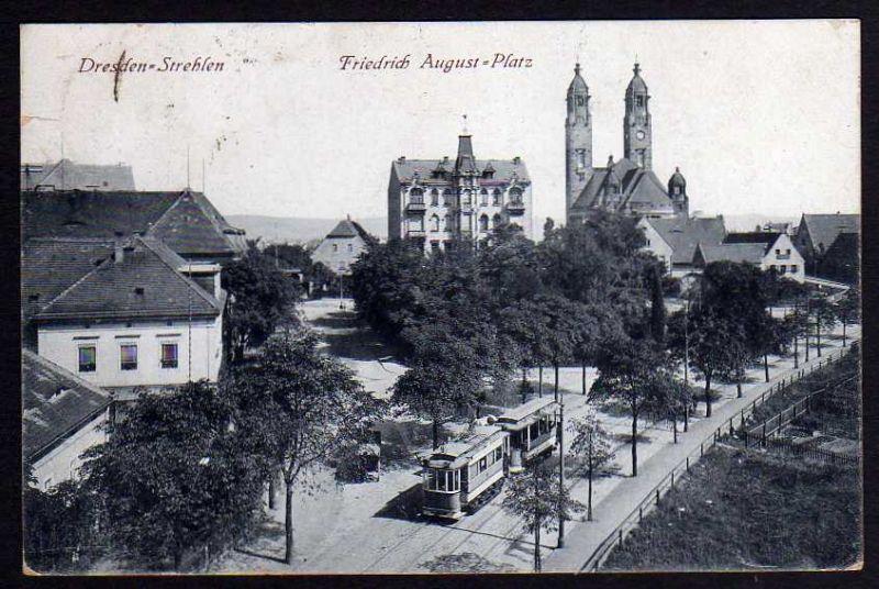 Ansichtskarte Dresden Strehlen Friedrich August Platz