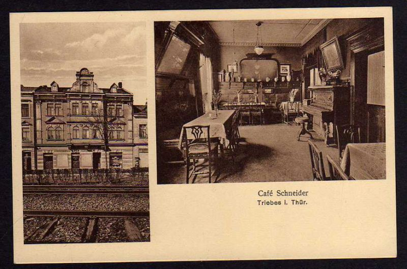 Ansichtskarte Triebes Cafe Schneider um 1920 Zeulenroda