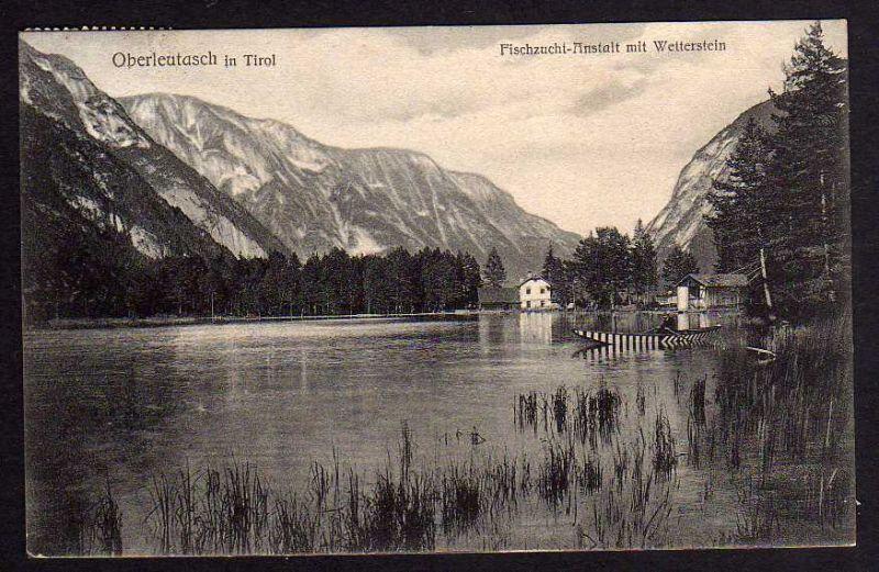 Ansichtskarte Oberleutasch Tirol Fischzucht Anstalt Gasthof