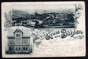 Ansichtskarte Böhlen Thüringen Gasthaus zum Löwen 1900