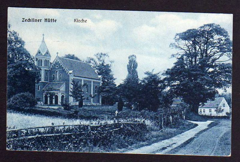 Ansichtskarte Zechliner Hütte Zechlinerhütte Kirche