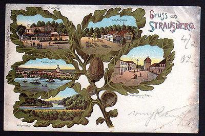 Ansichtskarte Eichenblatt Litho Strausberg Schlagmühle 1902