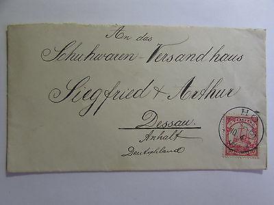 Togo HO 1909 Brief schöner Brief Schuhwaren Versandhaus Dessau