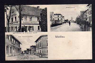 Ansichtskarte Modlau über Bunzlau um 1925 Geschäftshaus Günter Wilhelminenhütte