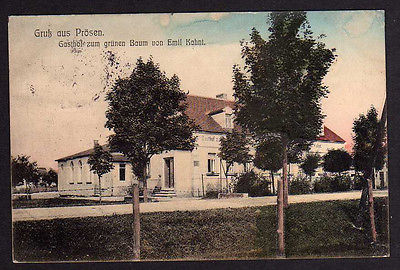 Ansichtskarte Prösen Gasthaus zum grünen Baum E. Kahnt 1912