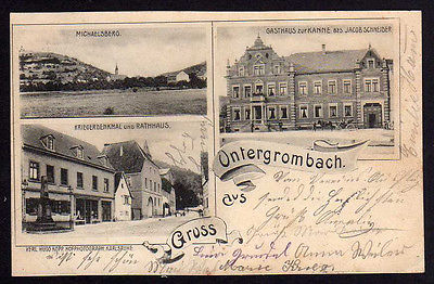 Ansichtskarte Untergrombach Bruchsal Gasthaus zur Kanne 1902
