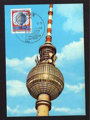 Maximumkarte DDR 1969 1510 Fernsehturm Berlin 20 Jahre DDR