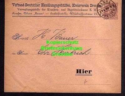 Privatpost Hansa Dresden 1890 Ganzsache Verband Deutscher Handlungsgehülf