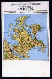 Ansichtskarte Spezial Wanderkarte Insel Rügen