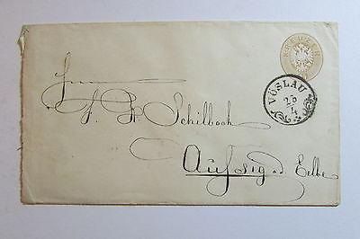 Brief Österreich 1866 Recommandiert Wien in rot an Firma Schillbach