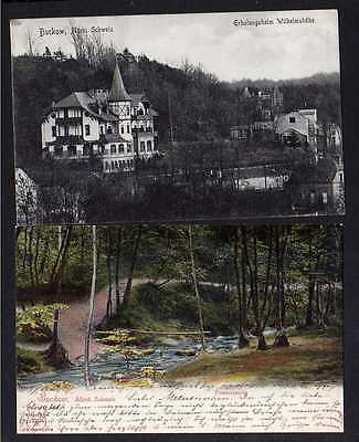 2 Ansichtskarte Buckow Märk. Schweiz Erholungsheim Wilhelmshöhe 1908 Poetensteig 190