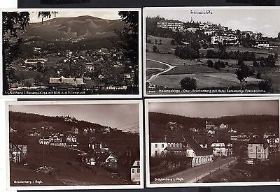 4 Ansichtskarte Ober Brückenberg Riesengebirge Franzenshöhe Hotel Rübezahl 1930 Foto