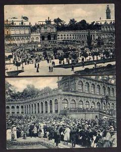 2 Ansichtskarte Dresden Fest im Zwinger 1916 Superintendent Dr. Költzsch