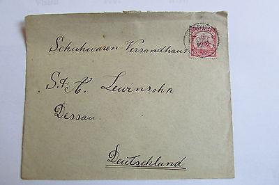 Bedarfsbrief Togo Kpandu 1908 an Versandhaus Lewinsohn Dessau