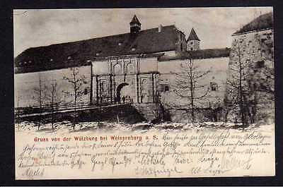 Ansichtskarte Wülzburg bei Weissenburg a. S. Burg Eingang Burgwart 1902