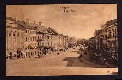 Ansichtskarte Tartu Dorpat Großer Markt 1918