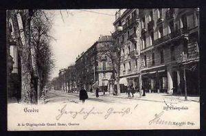 Ansichtskarte Genf Geneve Bd. Plainpalais 1901