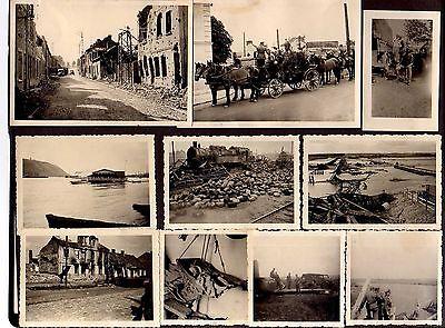 Ansichtskarte Fotos Lot Charkiw Харків Харьков Charkow 1942 Militär Zug Lok Panzer K
