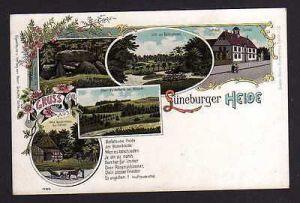 Ansichtskarte Lüneburger Heide Litho um 1900 Fallingbostel Soltau Rathaus Ober Haver