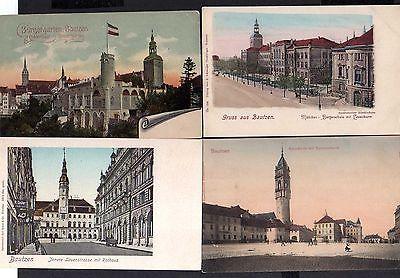 4 Ansichtskarte Bautzen Kornmarkt u 1900 Reichenturm Orts Krankenkasse Gewerbeschule