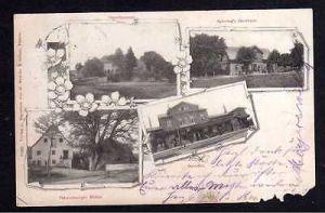 Ansichtskarte Bohmte 1901 Bahnhof Oberfösrsterei Palsterkamper Mühle Gastgaus Spier