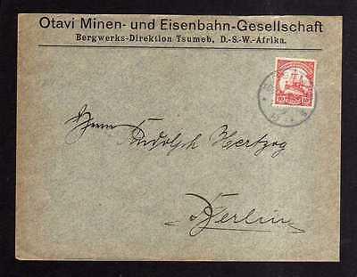Brief Tsumeb 1910 DSW Deutsch Südwest Afrika Otavi Minen- und Eisenbahn -