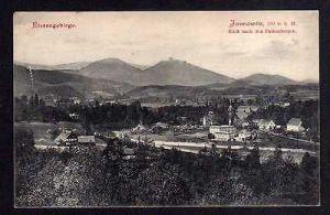 Ansichtskarte Jannowitz Riesengebirge Kirche Blick nach den Falkenbergen 1905