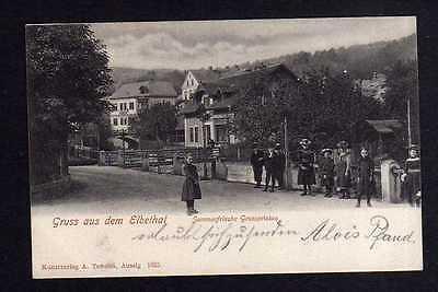 Ansichtskarte Grosspriesen Großpriesen 1902 Elbethal Straßenansicht Velke Brezno