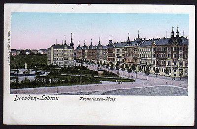 Ansichtskarte Dresden Löbtau Kronprinzen Platz 1905