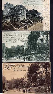 3 Ansichtskarte Flensburg Nordergraben Freimaurer Loge 1907 1908 1911