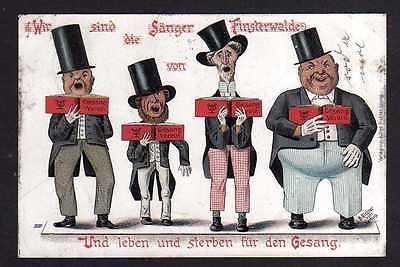 Ansichtskarte Finsterwalde Litho 1901 Wir sind die Sänger von ... und leben und ster