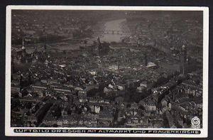 Ansichtskarte Dresden Luftbild Dresden Zentrum um 1933