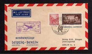 Brief DDR Leipziger Messe 1955 Luftpost Sonderflüge Leipzig Mockau - Berl