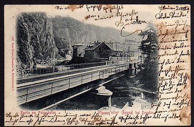 Ansichtskarte Dresden 1901 Plauenscher Grund Felsenkeller