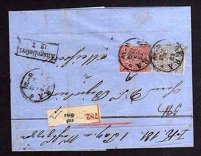 NDP Gera Paketbegleitbrief um 1868 nach Meißen