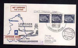 Brief DDR 1968 Leipzig BPA Messesonderflug Prag Sonderflugverkehr