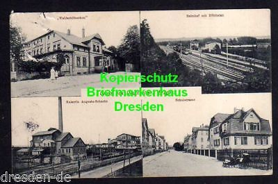 Bergbau Erzgebirge Karte.Ansichtskarte Neuolsnitz Erzgebirge Bahnhof Hohlteich Hotel Restaurant Bergbau 1914