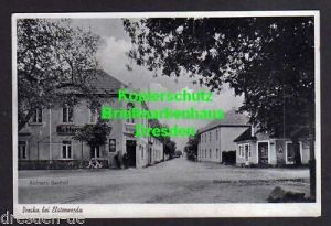 Ansichtskarte Dreska bei Elsterwerda Richters Gasthof 1941 Bäckerei u. Kolonialwaren