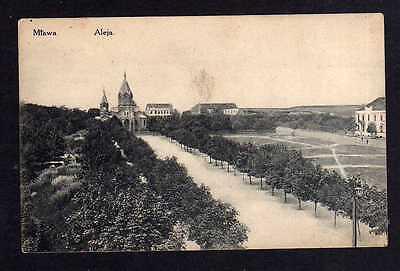 Ansichtskarte Mława Mlawa Mielau Aleja Kirche Allee Feldpost Zastrow 1915