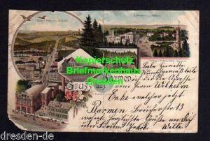 Ansichtskarte Barmen 1902 Litho Anlagen Bergbahn Bahnhof Luftkurhaus Thöllerturm