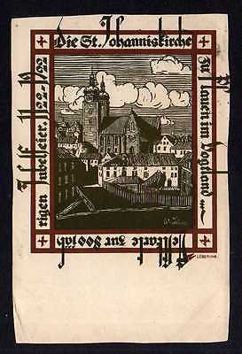 Ansichtskarte Plauen Vogtland Festkarte 800 Jahre St. Johanniskirche 1922 Löbering K
