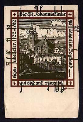 Ansichtskarte Plauen Vogtland Festkarte 800 Jahre St. Johanniskirche 1922 Löbering