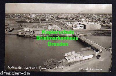 Ansichtskarte Balncario Ecuador American Park Fotokarte 1932 Guayaquil
