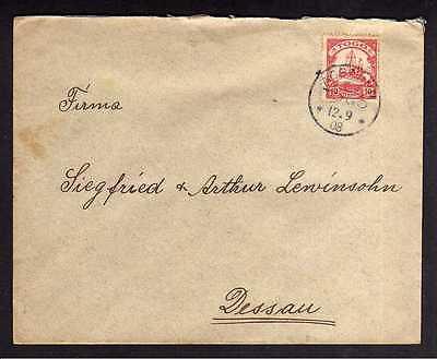 Bedarfsbrief Togo Assahun 1908 an Versandhaus Lewinsohn Dessau