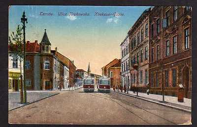 Ansichtskarte Tarnow Tarnau Ulica Krakowska Krakauer Gasse 1917 Straßenbahn Feldpost