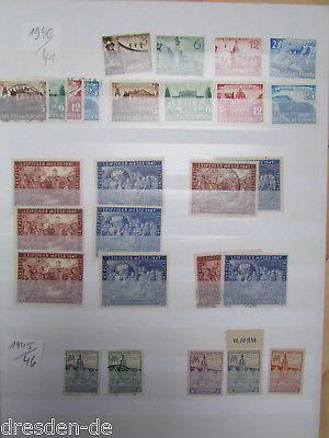 DR - DDR Leipziger Messe Sammlung meist ** / o 1940 - 1990 + 1997 mit Künstler E