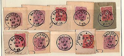10 Briefstücke Bautzen 1884 - 1888 Verschiedene